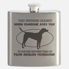 Engish Foxhound Design Flask