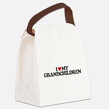 I LOVE MY GRANDCHILDREN Canvas Lunch Bag