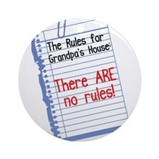 No Rules at Grandpa's House Ornament (Round)