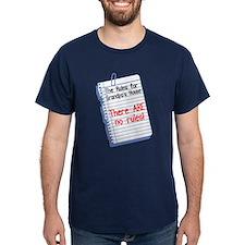 No Rules at Grandpa's House T-Shirt