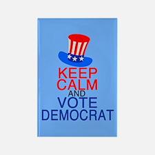 Democrat Keep Calm Rectangle Magnet