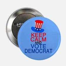 "Democrat Keep Calm 2.25"" Button"