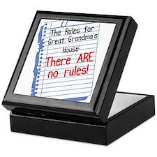 No Rules at Great Grandma's House Keepsake Box