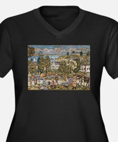 Landscape Near Nahant by Prender Plus Size T-Shirt