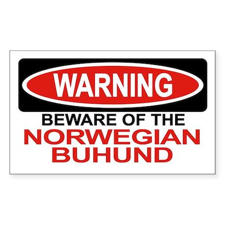 NORWEGIAN BUHUND Rectangle Sticker