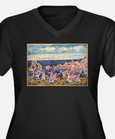 On the Beach by Prendergast Plus Size T-Shirt
