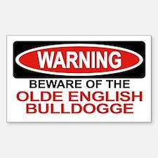 OLDE ENGLISH BULLDOGGE Rectangle Decal