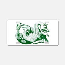 Green Dragon Aluminum License Plate