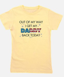 Unique Army welcome home daddy Girl's Tee