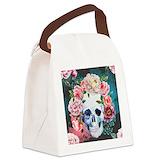 Skulls Canvas Lunch Bag