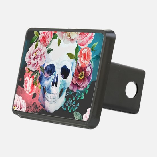 Flowers and Skull Hitch Cover