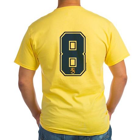 FI Finland Suomi Hockey 8 Yellow T-Shirt