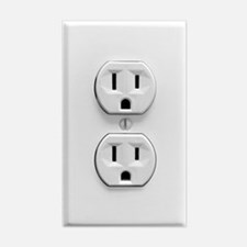 Fake Electric Outlet Decal