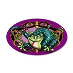 Celtic Gecko 35x21 Oval Wall Decal