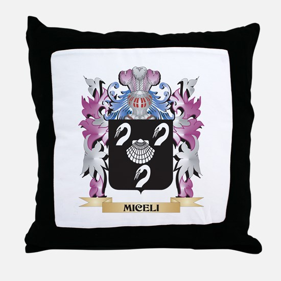 Miceli Coat of Arms - Family Crest Throw Pillow