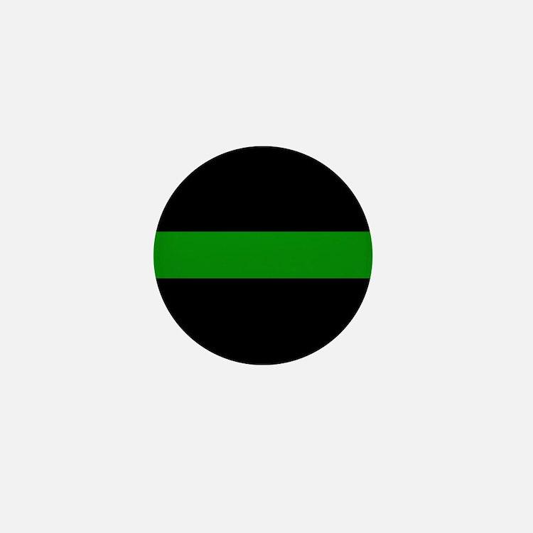 The Thin Green Line Mini Button