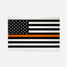 Search & Rescue: Black Flag & Thi Rectangle Magnet