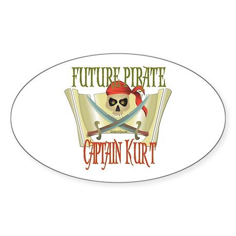 Captain Kurt Oval Sticker