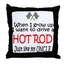 WIGU Hot Rod Uncle Throw Pillow