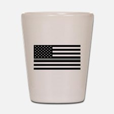 U.S. Flag: Black Flag & The Thin Grey L Shot Glass