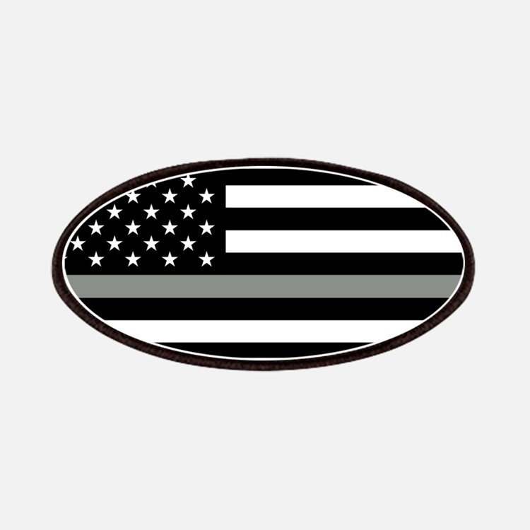 U.S. Flag: Black Flag & The Thin Grey Line Patch