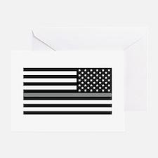 U.S. Flag: Black Flag & The Thin Gre Greeting Card