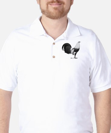 Gamecock Grey Duckwing Rooster Golf Shirt