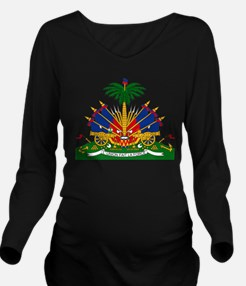 Coat of arms of Hait Long Sleeve Maternity T-Shirt