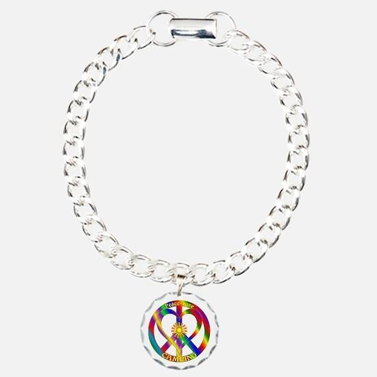 Peace Love Camping Bracelet