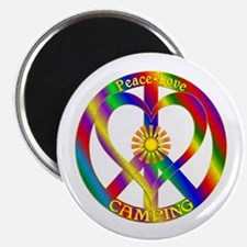 """Peace Love Camping 2.25"""" Magnet (10 pack)"""