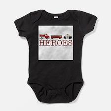 Firefighter kids Baby Bodysuit