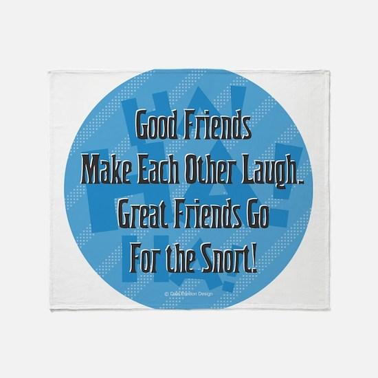 Laugh-Snort Throw Blanket