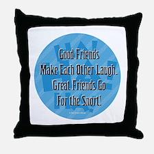 Laugh-Snort Throw Pillow
