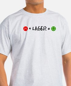Plus Lager Equals Happy T-Shirt
