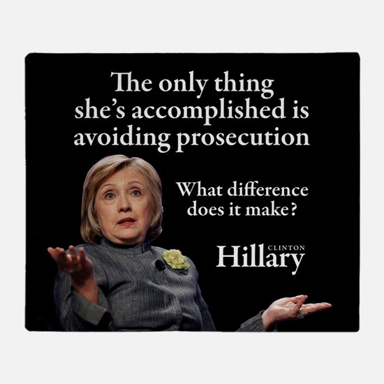 HILLARY ONLY THING Throw Blanket