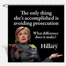 HILLARY ONLY THING Shower Curtain