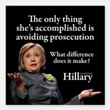 """HILLARY ONLY THING Square Car Magnet 3"""" x 3"""""""