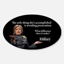 HILLARY ONLY THING Sticker (Oval)