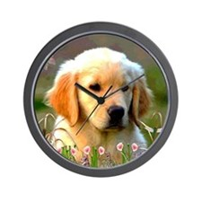 Austin, Retriever Puppy Wall Clock