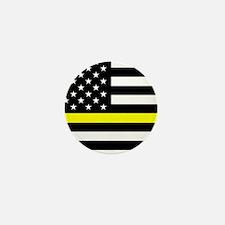 U.S. Flag: Black Flag & The Mini Button (10 pack)