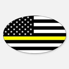 U.S. Flag: Black Flag & The T Sticker (Oval 10 pk)