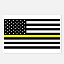 U.S. Flag: Black Flag & T Postcards (Package of 8)
