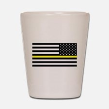 U.S. Flag: Black Flag & The Thin Yellow Shot Glass