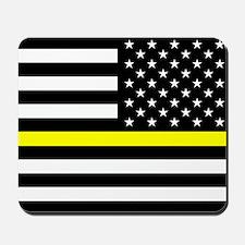 U.S. Flag: Black Flag & The Thin Yellow Mousepad