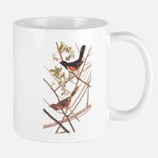 Towee Bunting Birds Audubon Vintage Art Mugs