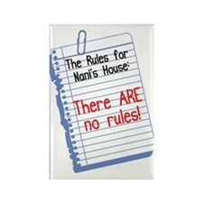 No Rules at Nani's House Rectangle Magnet (10 pack