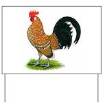 Dutch Bantam Rooster Yard Sign