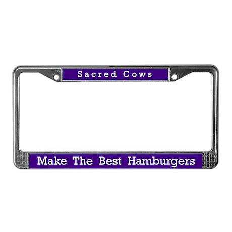 Sacred Cows #3 License Plate Frame