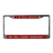 Voltaire License Plate Frame