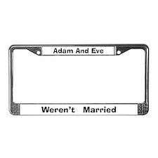 Adam & Eve #4 License Plate Frame